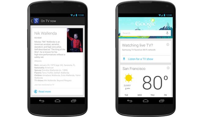 يتم تحديث Google Now ببطاقة البث التلفزيوني المباشر وخيارات بث الموسيقى الجديدة