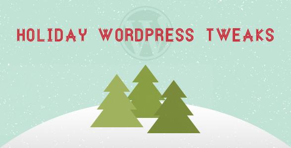 5 تعديلات WordPress لموسم الأعياد