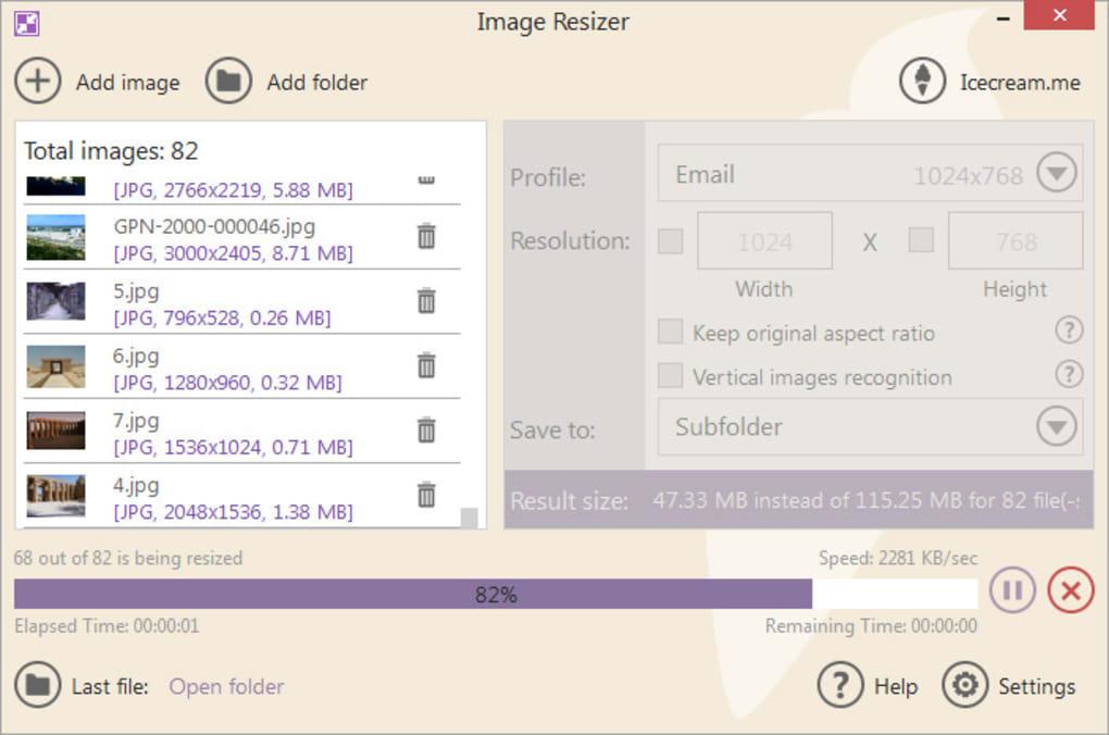 تحميل او تنزيل برنامج Icecream Image Resizer تغيير الحجم في ثوان