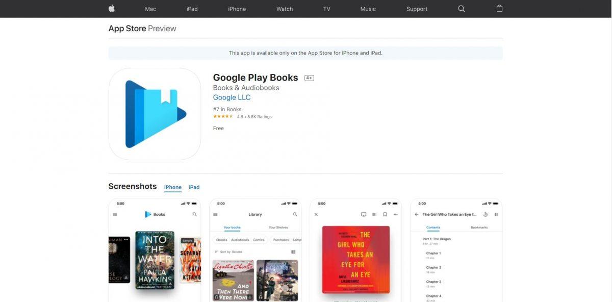 مراجعة تطبيق كتب Google Play: اقرأ الكتب متى شئت
