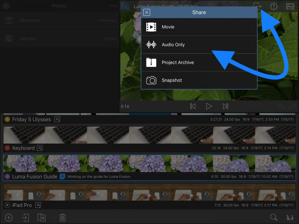 تطبيق LumaFusion: تحرير مقاطع الفيديو مثل المحترفين