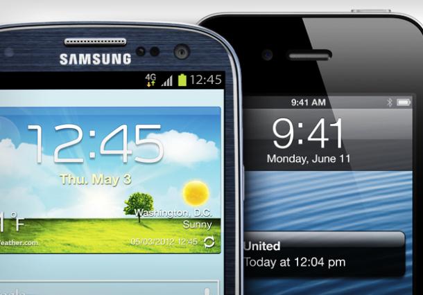 iPhone 5 مقابل Samsung Galaxy S3